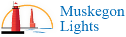 Muskegon Lights,  Historic Lighthouses in Muskegon, Michigan, MI Retina Logo