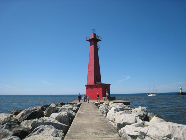 South Breakwater Lighthouse Muskegon Lights Historic